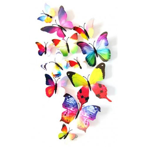 Rainbow Butterflies Wall Stickers