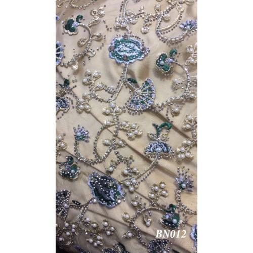 Embellished Net Shirt Piece