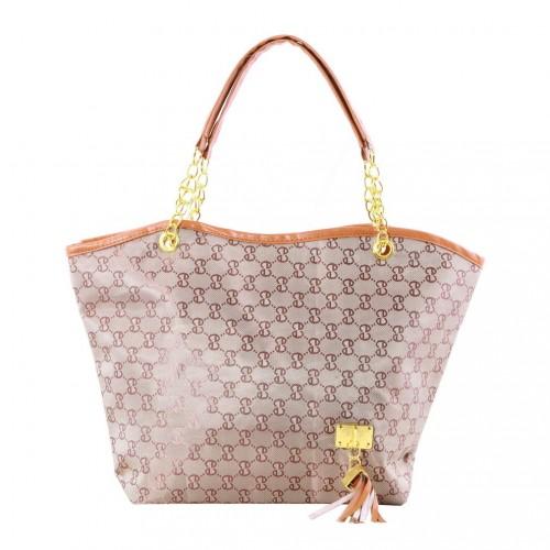Faux Leather Shoulder Bag Khaki