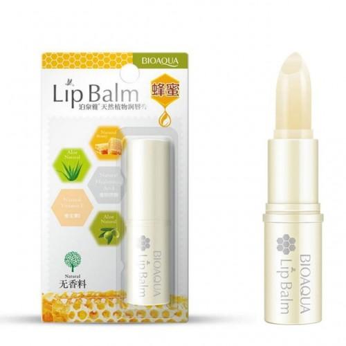 BIOAQUA Natural Aloe Honey Moisturizing Lip Balm Colorless