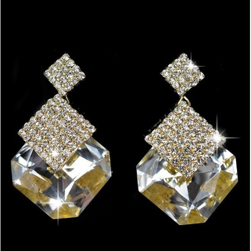 Crystal Luxury Stud Earrings White