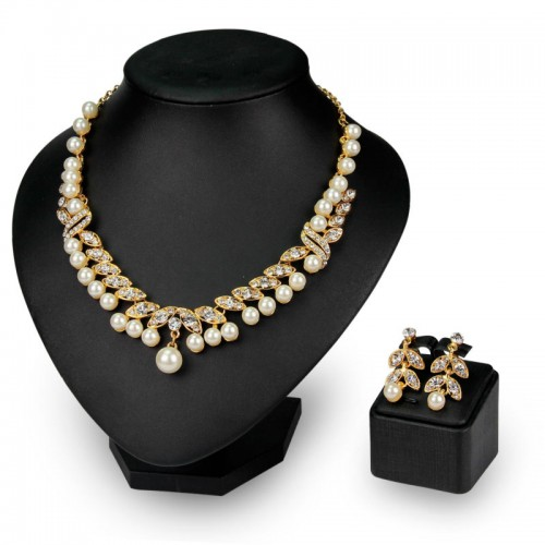 Fashion Alloy Pearl Rhinestone Jewellery Set