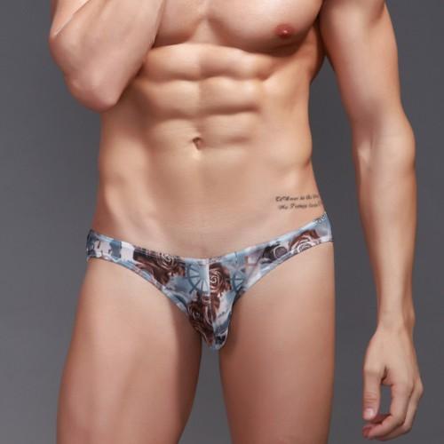Mesh Sheer Shorts U Convex Pouch Elastic Waist Underwear