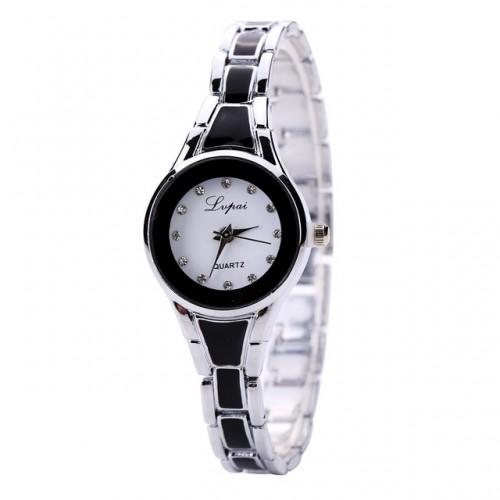 Black Luxury Crystal Bracelet Gemstone Wrist watch