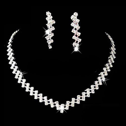 Crystal Rhinestone Necklace Earring Jewelry