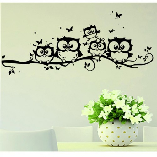 Wall Sticker Tree Animals Bedroom Owl Butterfly Wall Sticker Home Decor Living Room Butterfly for Kids Rooms