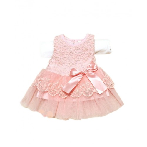 Crochet Princess Bow Belt Party Dress