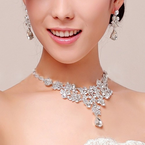 Wedding Bridal Prom Crystal Rhinestone Jewellery Set