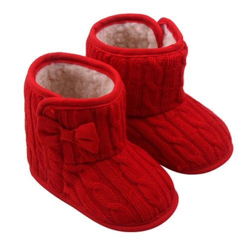 Baby Woolen Yarn Soft Sole Winter Warm Boots
