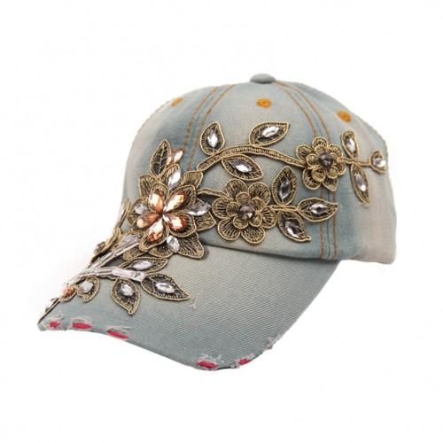 Summer Style Lady Jeans Hat Denim Light