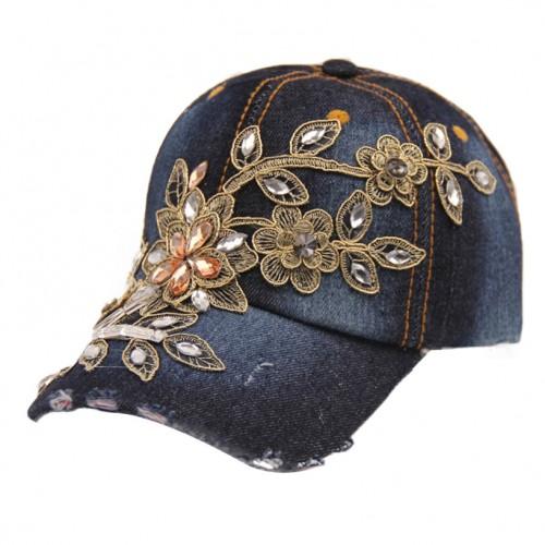 Summer Style Lady Jeans Hat Denim Dark