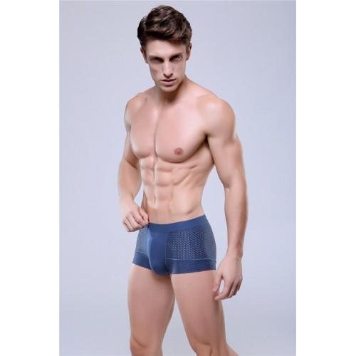 Mens see through boxer underwear Blue
