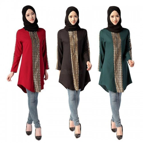 Kaftan Long Sleeve Abaya Shirt