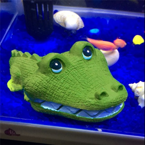 Resin Aquarium Ornaments Fish Tank Aquascaping Crocodile Pneumatic Decoration