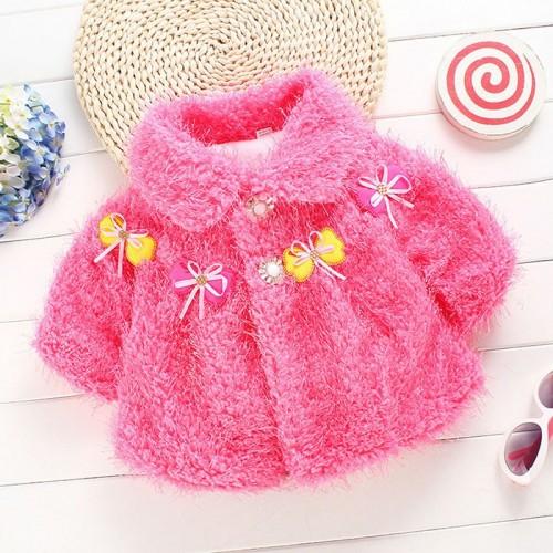Winter Autumn Woolen Baby Outerwear Girls Jacket
