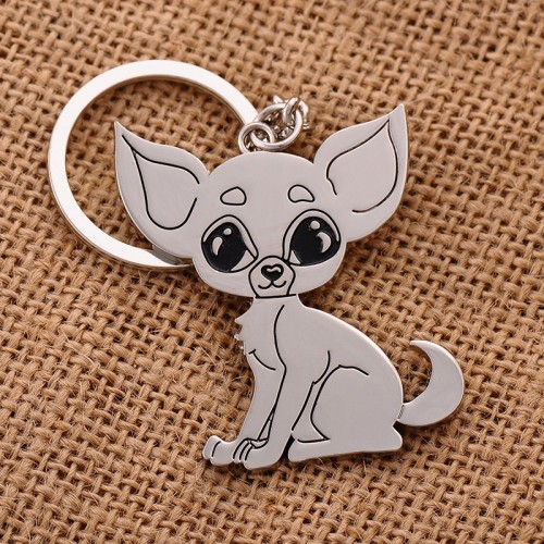 Chihuahua keychain key ring for women puppy dog key chain key holder cute portachiavi chaveiro llaveros