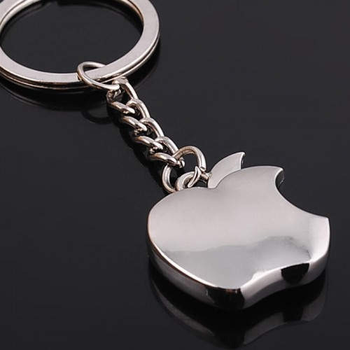 New Arrival Novelty Souvenir Metal Apple Key Chains Creative Keychain Key Ring Trinket