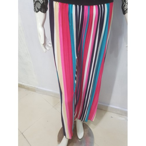 Multicolored Panels Palazzo Pant For Women