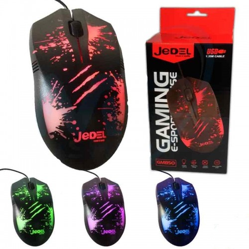 Jedel GM850 USB Gaming Mouse LED Lighting Wired Optical Mouse