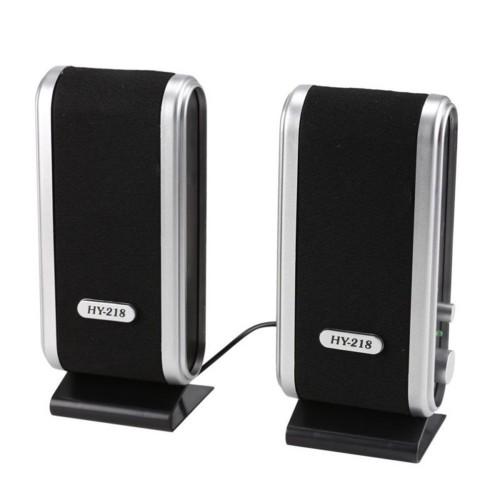 LESHP Portable Speaker for computer HY 218 Portable USB Stereo Soundbox Music Speakers For Desktop Portable