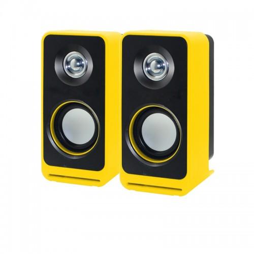 New Mini Multimedia Stylish Computer Audio USB Notebook Speaker Speaker Bookshelf with Subwoofer Stereo Speaker