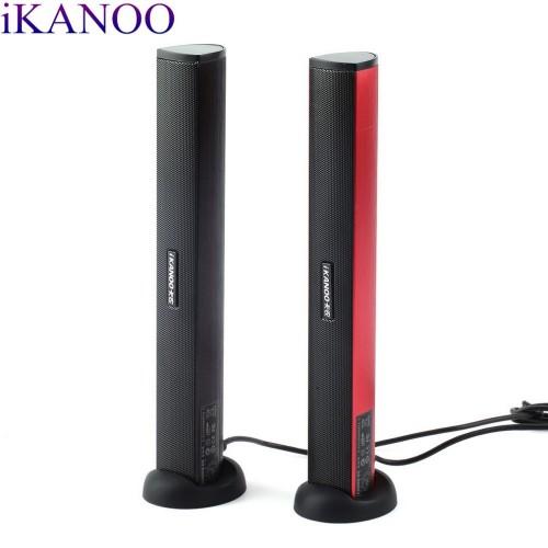 Original iKANOO USB Power Laptop Computer PC Notebook Audio Speaker Audio Stereo Amplifier Soundbar Earphone Jack