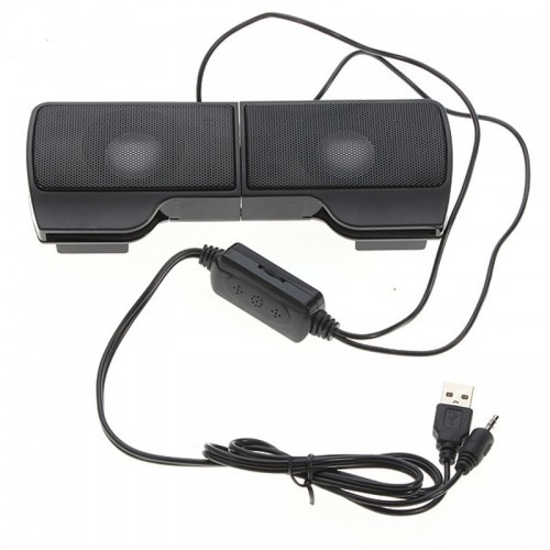 PLEXTONE 1 Pair Mini Portable Clipon USB Stereo Speakers line Controller Soundbar for Laptop Mp3 Phone
