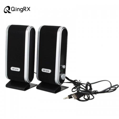 Portable USB 2 0 Power 3 5mm for Notebook Desktop PC Speaker Headphones Microphone Headphones