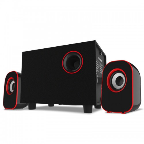 Surround Stereo Wooden Computer Speakers Home Theater Multimedia Combination Subwoofer USB Port 2 1 Laptop Desktop