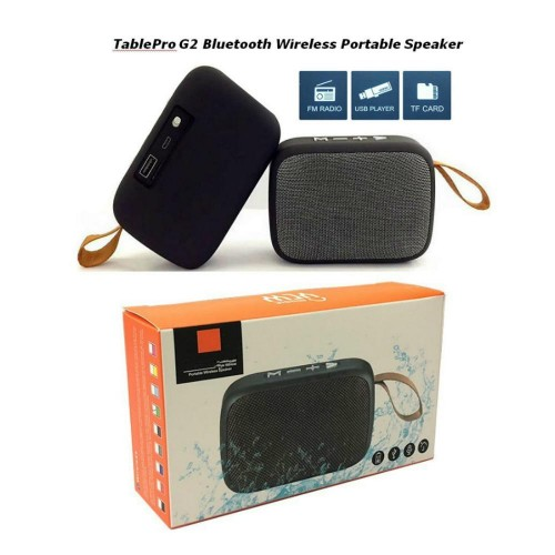 Portable Bluetooth Speaker Table Pro MG2 Music Player Mp3 Stereo Audio FM Radio Splash Proof