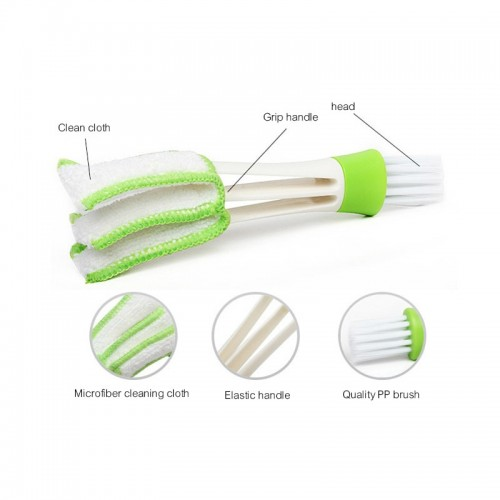 New Arrival Mini Double Head Computer keyboard Cleaner Brush Cleaner Outlet Cleaning Brush Instrument Dusting Brush