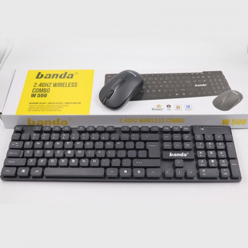 W500 Banda 2.4 GHz Wireless Combo Keyboard Mouse