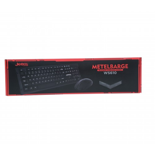 WS610 JEDEL 2.4GHz Ultrathin Wireless Desktop Keyboard And Mouse Combo