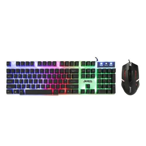 Jedel GK100 RGB Gaming Backlit Membrane RGB Keyboard & LED Mouse