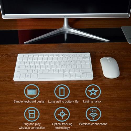 KM901 Keyboard Mouse Combo 2.4G Wireless 78 Key Mini Keyboard and Mouse Set