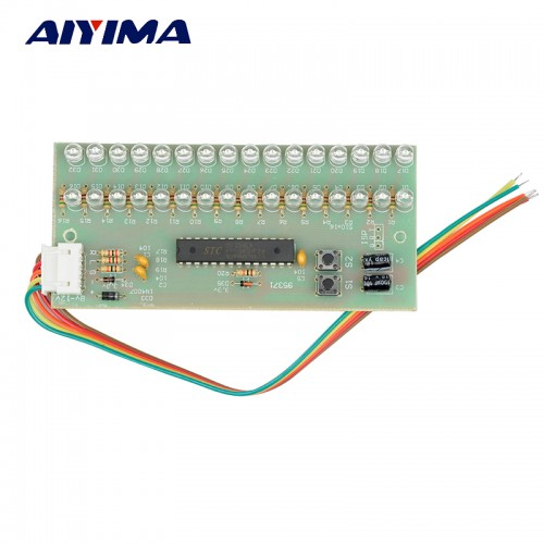 Aiyima MCU Adjustable Display Pattern LED VU Meter Level Indicator Amplifier Audio 16 LED Dual Channel
