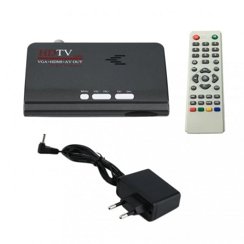 EU Digital Terrestrial 1080P DVB TV Box VGA AV Tuner Receiver With Remote