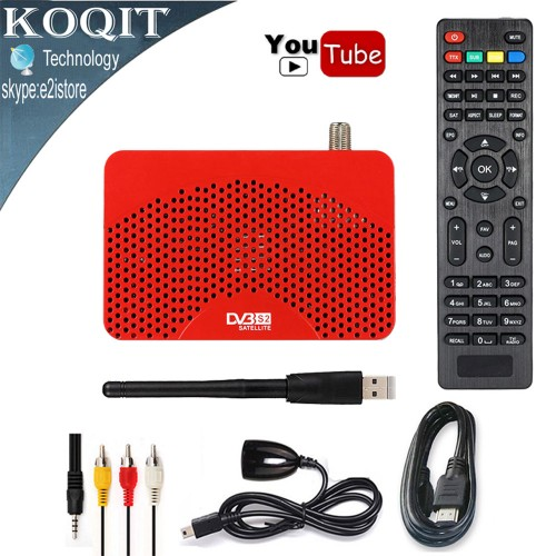 Mini Size HD Digital Satellite Receiver TV Tuner USB PVR