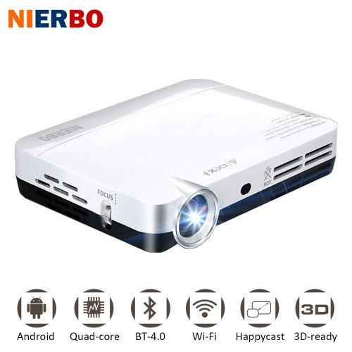 Mini Projector LED Projector Full HD Android Smartphone Video Projecteur DLP Wifi Home Theater Pocket