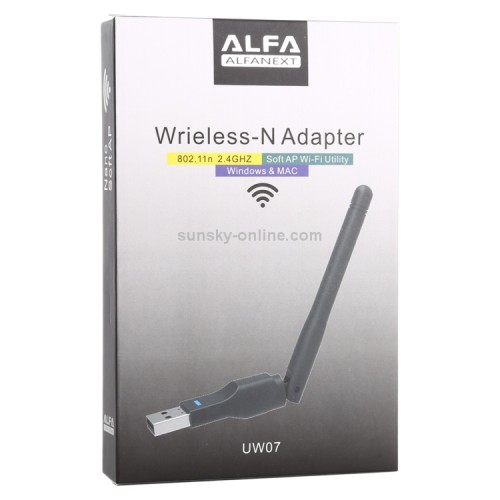 Alfa Next Wireless-N USB Adapter + Antenna  2.4Ghz With Antenna