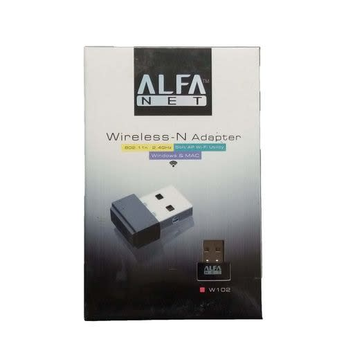 W102 Alfa 150mbps Wireless-N 802.11n 2.4ghz Adapter