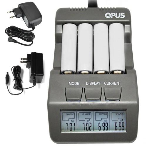 4 Slots Opus BT C700 LCD Digital Intelligent Battery Charger