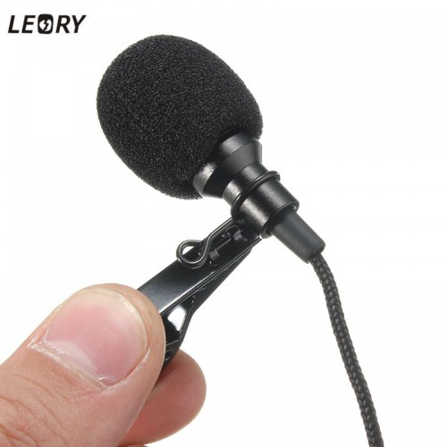 Mini Jack Microphone Lavalier Tie Clip Microphones Microfono Mic For Speaking Speech Lectures