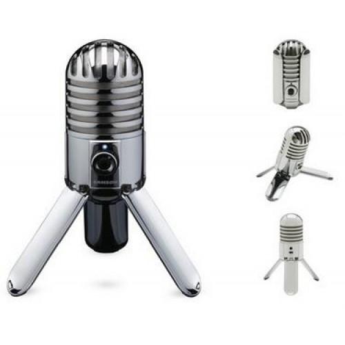 Original Meteor Mic Studio Recording Condenser Microphone Fold back Leg with USB Cable Carrying Bag