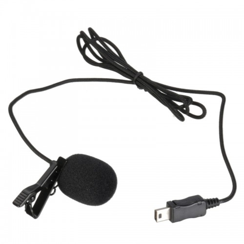 Pro Mini USB External Microphone With Collar Clip Black