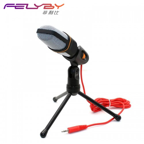 Professional Condenser Microphone Mic with Stand for PC Laptop Skype Recording with Windscreen