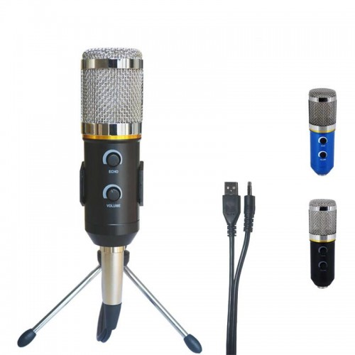 Professional Microphone USB Condenser Microphone for Video Recording Karaoke Radio Studio Microphone
