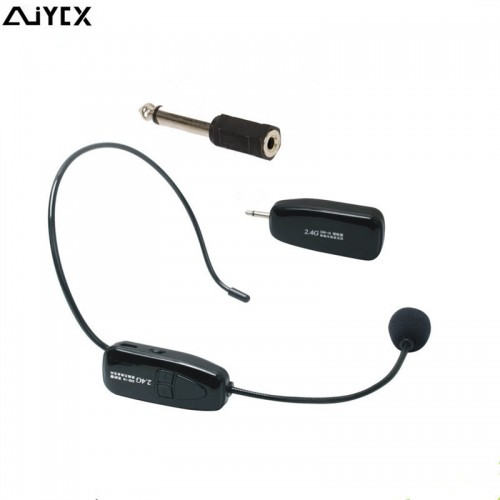 Wireless Microphone Speech Headset Megaphone Radio Mic For Loudspeaker Teaching Meeting Tour Guide Microfones