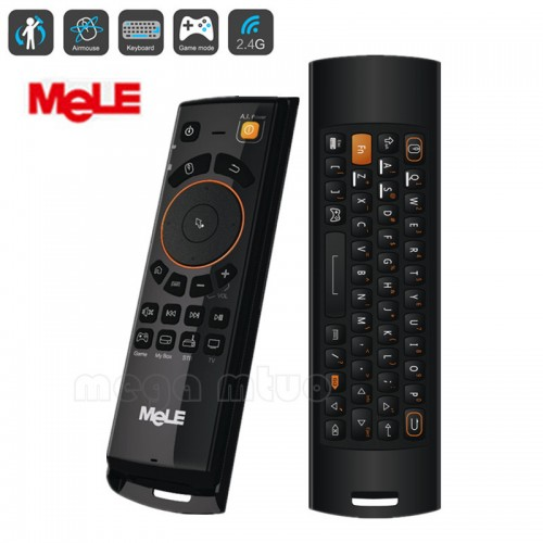 Fly Air Mouse Deluxe Wireless Keyboard Remote Control with IR Learning Function