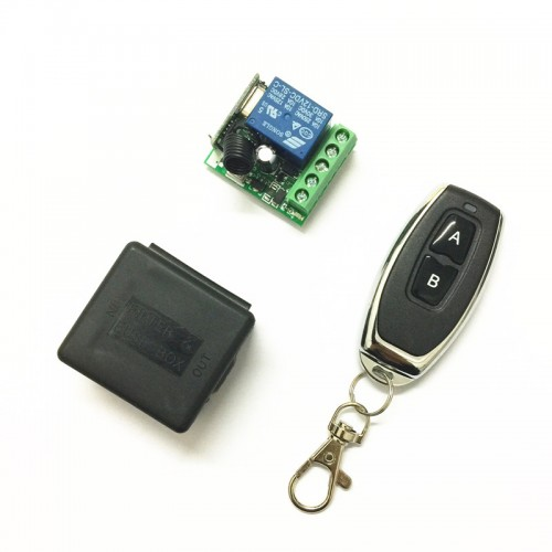 Universal Wireless Remote Control Switch DC relay Receiver Module and RF Transmitter
